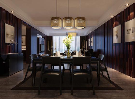 triple-pendulum-lit-textured-wood-clad-dining-china