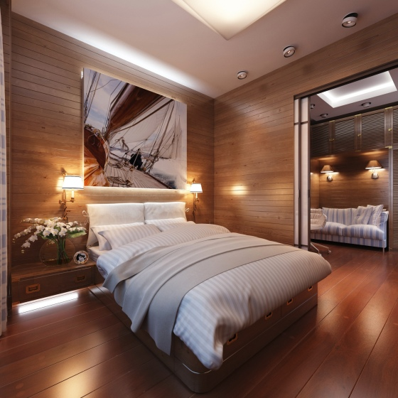 Cabin-style-bedroom-decor