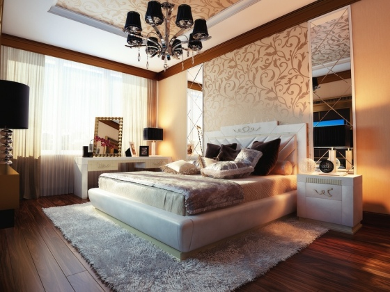 Cream-beige-bedroom-design