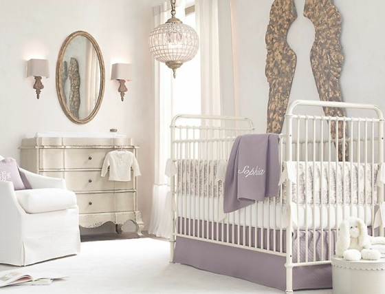 Lilac-white-baby-room-decor