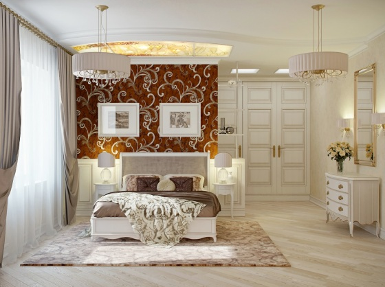 Red-cream-bedroom-decor